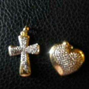 Jewelry - Cross and Heart Pendant set